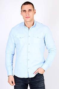 Рубашка мужская голубая AAA 123455P