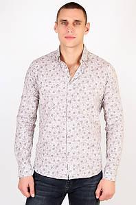 Рубашка мужская коричневая Well Done 123428P