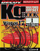 Крючок Decoy Worm17 Kg Hook #4/0 (6 шт/уп)