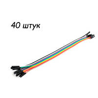 40x Dupont Дюпон кабель папа-мама 20см для Arduino, фото 1