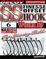 Крючок Decoy Worm19 S.S. Hook #6 (9 шт/уп)