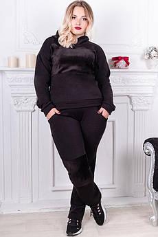 Чорний костюм великого розміру Бріджит з хутром