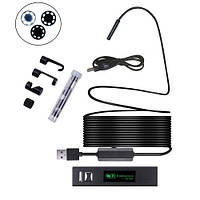 10м Wi-Fi / USB камера 1600x1200, 8мм, бороскоп эндоскоп, жесткий кабель