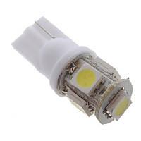 2x LED T10 W5W лампа в автомобиль, 4+1 SMD