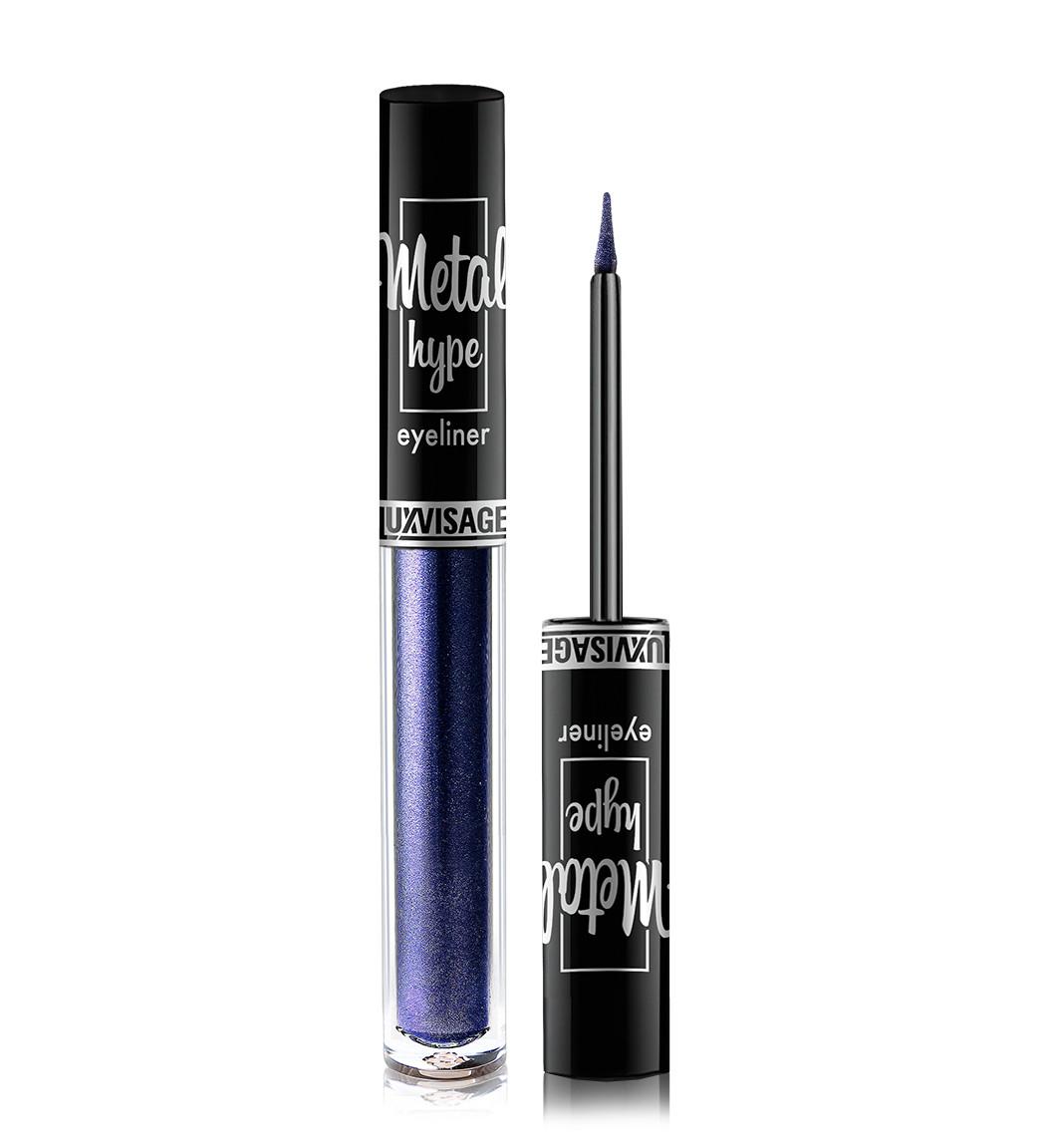 Цветная подводка для глаз Luxvisage Metal Hype Eyeliner №03 Sapphire blue