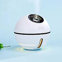 Ультразвуковой увлажнитель воздуха с аккумулятором, USB лампой и вентилятором Humidifier Space Ball белый, фото 1