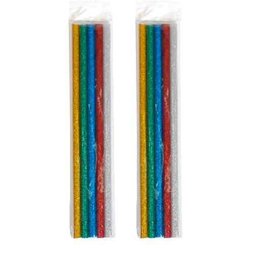 Клей декоративный, стержни цветные для клеевого пистолета 7мм, 10шт 65г