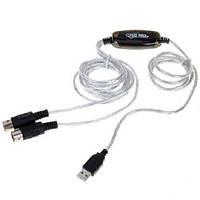 MIDI интерфейс кабель USB, подключение клавиатуры