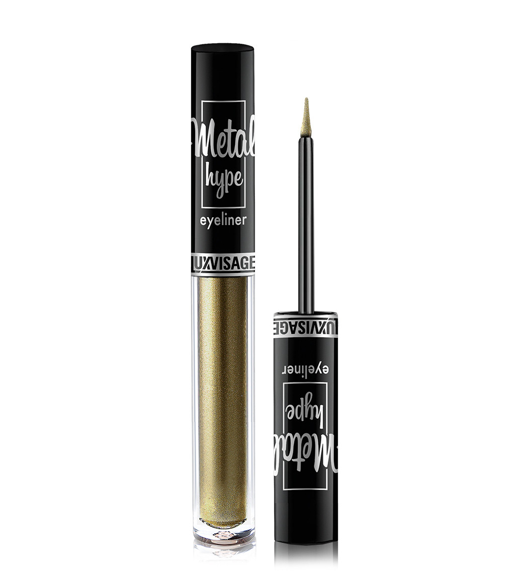 Кольорова підводка для очей Luxvisage Metal Hype Eyeliner №05 Olive Sparks