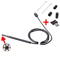 USB / microUSB камера эндоскоп медицинский ЛОР отоскоп 1.35м