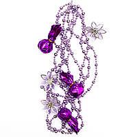 Новогоднее украшение - гирлянда цветок и конфета, 2,7 м, фиолетовый, пластик (472109-6)