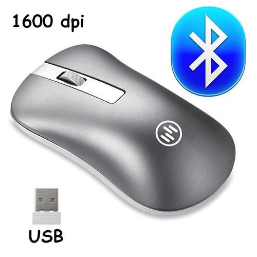 Беспроводная мышь Bluetooth мышка 1600 dpi тонкая, тихая для ноутбука и ПК