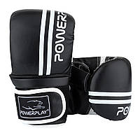 Снарядные перчатки, битки PowerPlay 3025 черно-белые S