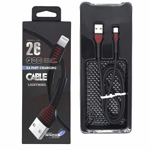 USB дата кабель Lightning 1м для Apple iPhone, iPad, iPod, CB26-2 Premium