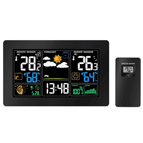 Метеостанция с барометром и ЖК, беспроводной выносной датчик, PT3378, USB