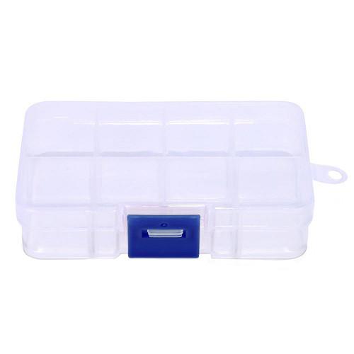 Коробка органайзер кейс для снастей бисера 105х64x21мм 8 ячеек
