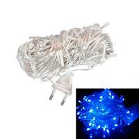 Гирлянда светодиодная новогодняя синяя 100 LED 8.5м