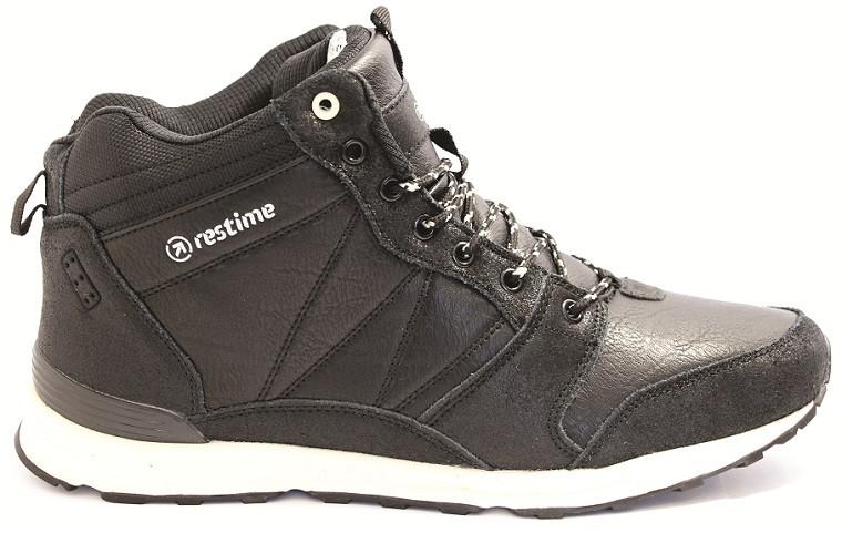 Кожаные зимние ботинки Restime на меху 45 размеры