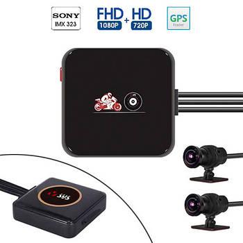 Видеорегистратор для мотоцикла 1080p Wi-Fi VSYS P6L, GPS, ДУ, IP68