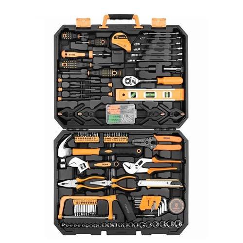 Набор ручных инструментов в кейсе, 168шт, Deko TZ168, профессиональный