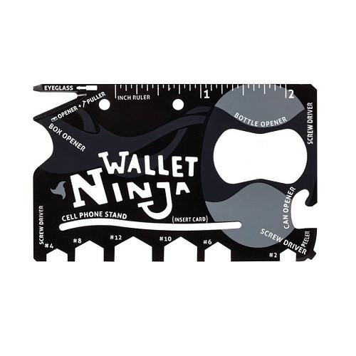 Карманный инструмент выживания, мультитул кредитка 18 в 1, Wallet Ninja
