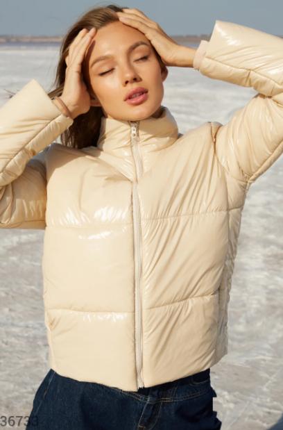 Светлая куртка с укороченным кроем S,M,L