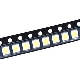 100x 3528 2835 SMD LED 3В 0.2Вт 21-23лм светодиод, белый
