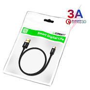 USB 3.1 Type-C дата кабель 1м QC3.0, 5/9/12В 3А Ugreen US174, фото 2