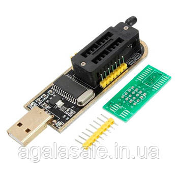USB міні програматор CH341A 24 25 FLASH EEPROM 24