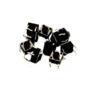 10x Кнопка тактовая, микрик, DIP 4 контакта, 6x6x5мм
