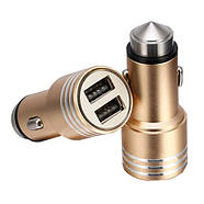 Автомобильное зарядное устройство 2x USB 2.4А металл в прикуриватель, фото 2