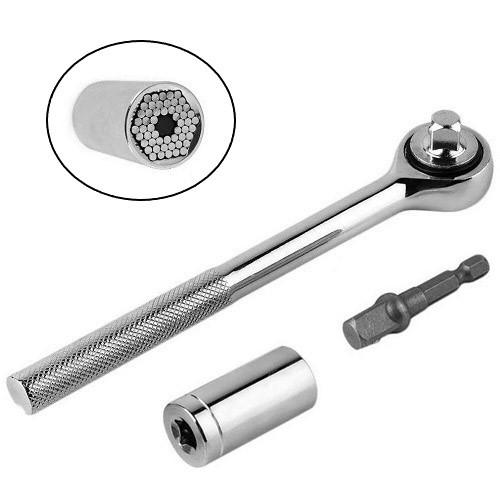 Торцевой гаечный ключ универсальный, трещотка, головка 7-19мм
