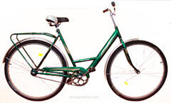 Велосипед Спутник усиленная рама 26 (Ж) (метал. защита цепи)