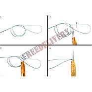 Крючковяз петлевяз рыболовный 2в1 узловяз для вязания крючков к леске, фото 2