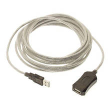 USB 2.0 удлинитель активный репитер, кабель AM - AF, 5м