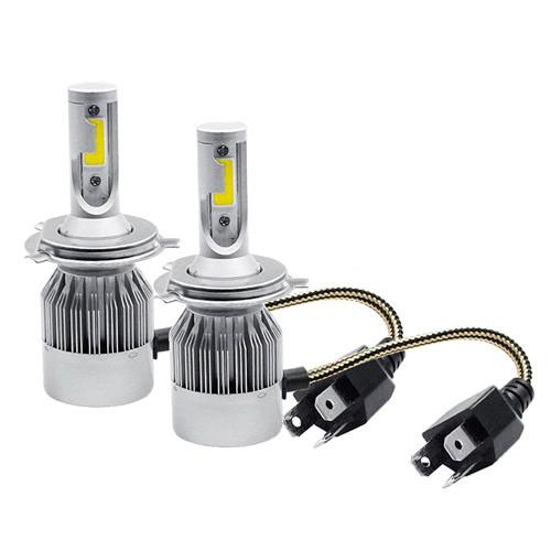Лампы светодиодные автомобильные C6 H4 P43T 12В 72Вт 7600лм