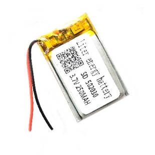 Аккумулятор 502030 052030 Li-pol 3.7В 250мАч для MP3 Bluetooth наушников