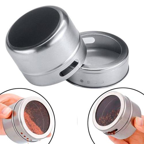 Баночка для спецій магнітна, ємність на магніті, нержавіюча сталь