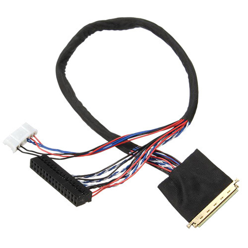 Кабель шлейф LVDS I-PEX 40pin 1канал 6бит для ЖК матриц LP140WH1