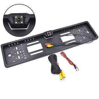 Рамка для номерного знака автомобиля EU с камерой заднего вида, IP68