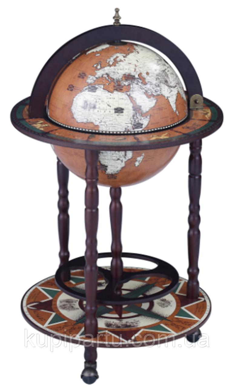 Глобус бар напольный Континенты кофейный сфера 33 см Гранд Презент 33001N-M