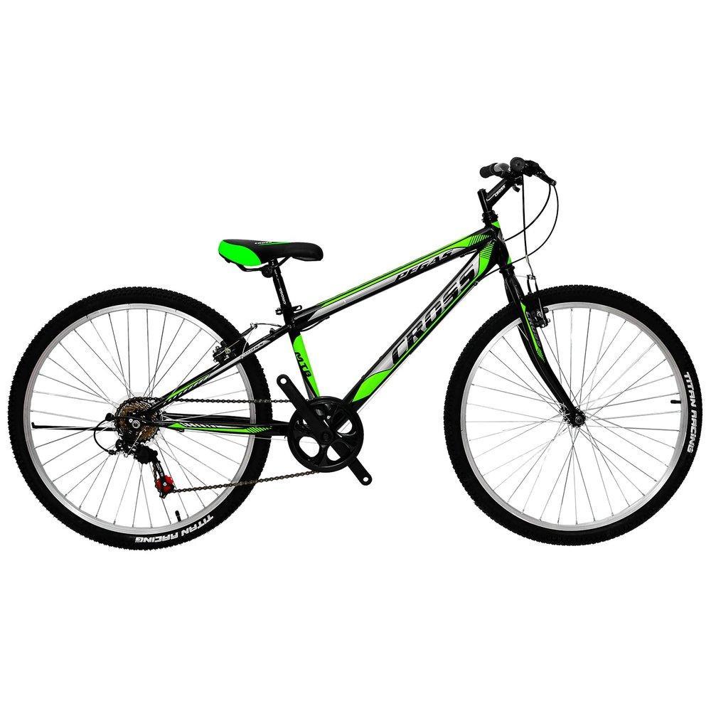 "Велосипед 24"" Cross Pegas сталь 11″, 7 скор, V-Brake, черно-зел (сал)"