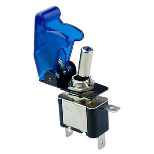 Переключатель, тумблер, выключатель питания 12В 20А LED, синий