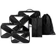 Набор из 6 дорожных сумок органайзеров в чемодан для путешествий P.Travel, фото 2