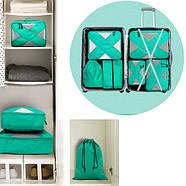 Набор из 6 дорожных сумок органайзеров в чемодан для путешествий P.Travel, фото 3