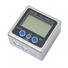 Угломер электронный магнитный, уровень, транспортир, инклинометр