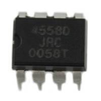 Чип JRC4558D JRC4558 DIP8, Операционный усилитель 2-канальный