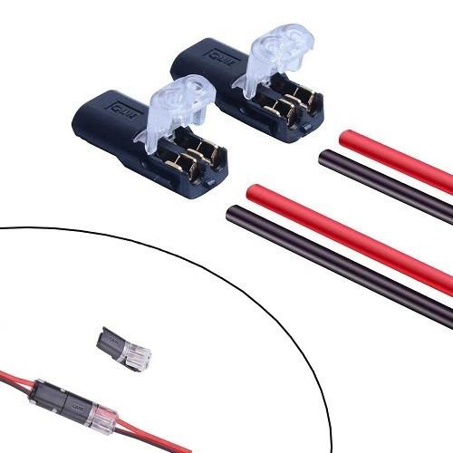 10x Соединитель проводов, клеммник, клемма пружинная самозажимная 2 канала