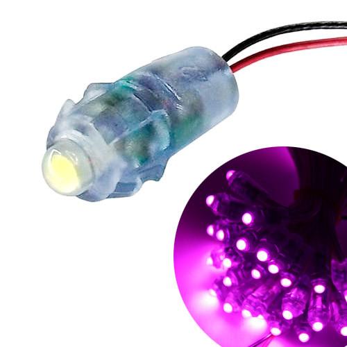 Світлодіод швидкого монтажу 12В світлодіодний піксель IP68 9мм, рожевий