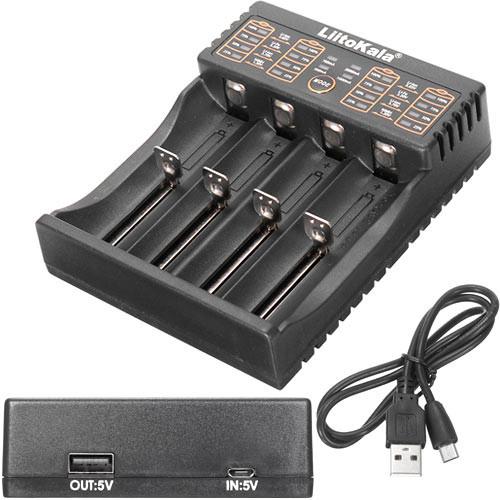 Розумне зарядний пристрій Liitokala Lii-402 Li-ion 18650 Ni-MH, 4 канали